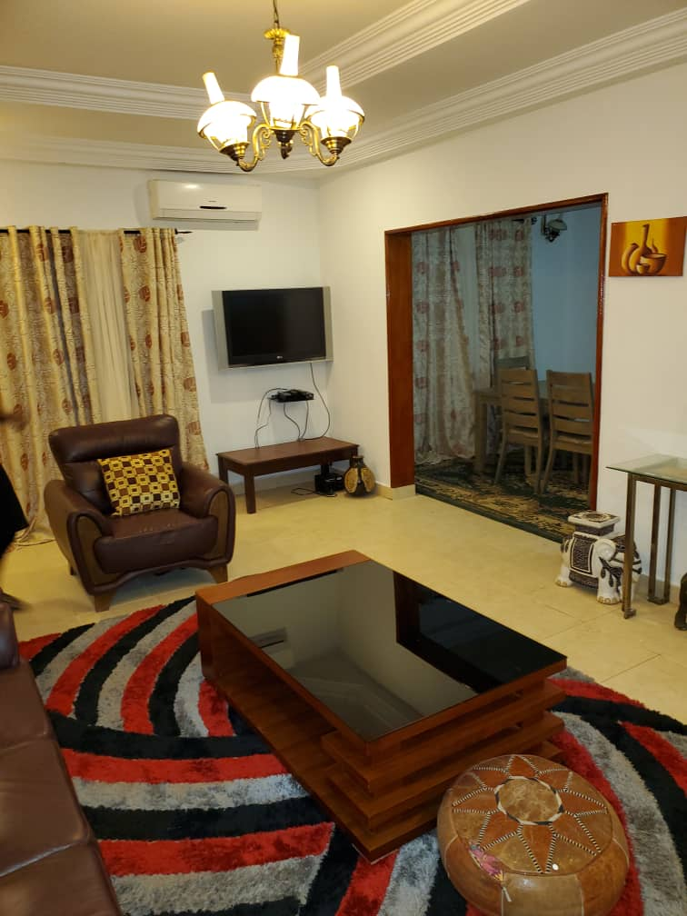 three bedrooms furnished  house for rent with swimming pool at Taf for D350,000 per year