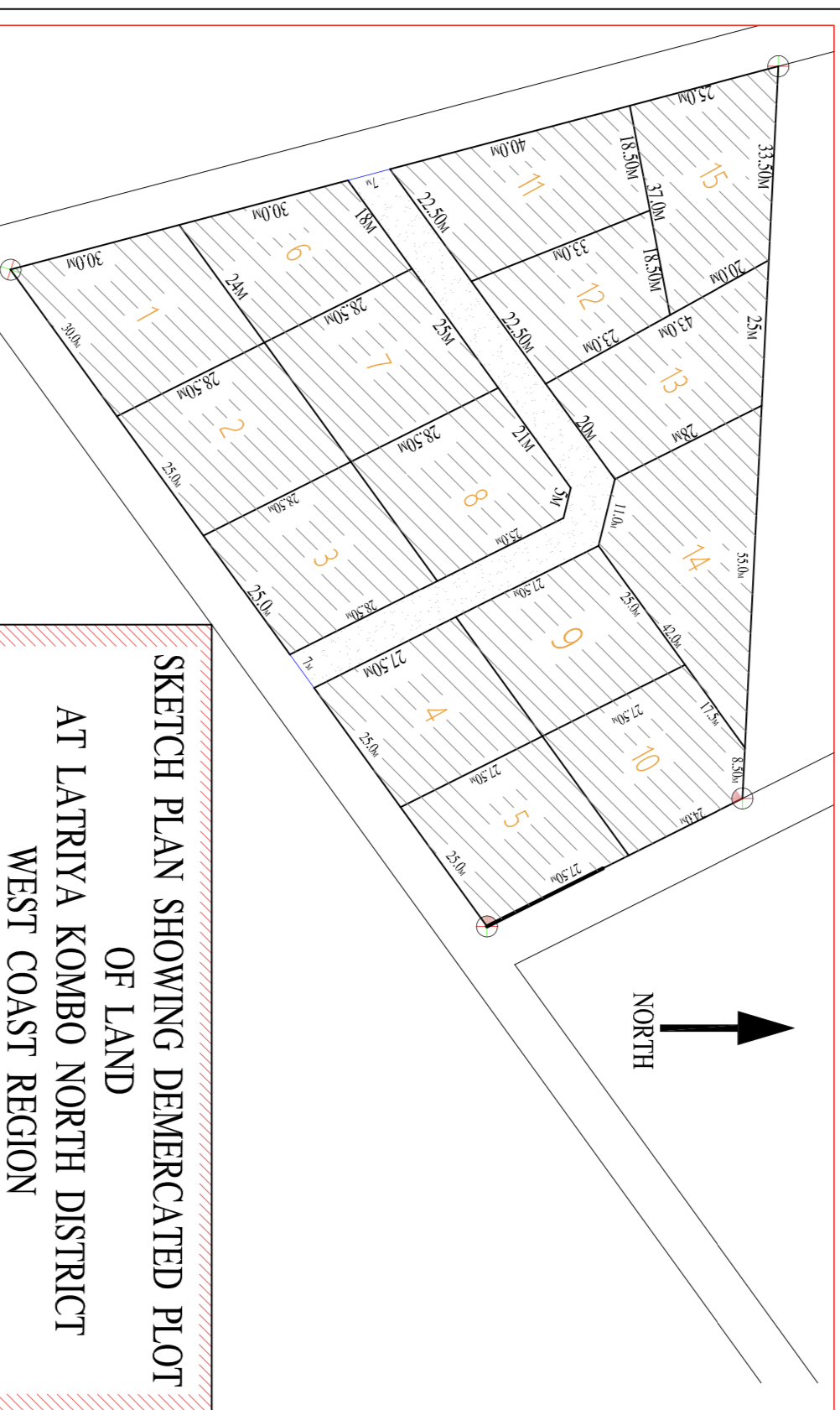 Lease Empty plots of land for sale at latriya with electricity and few munites walk to the highway few plots available