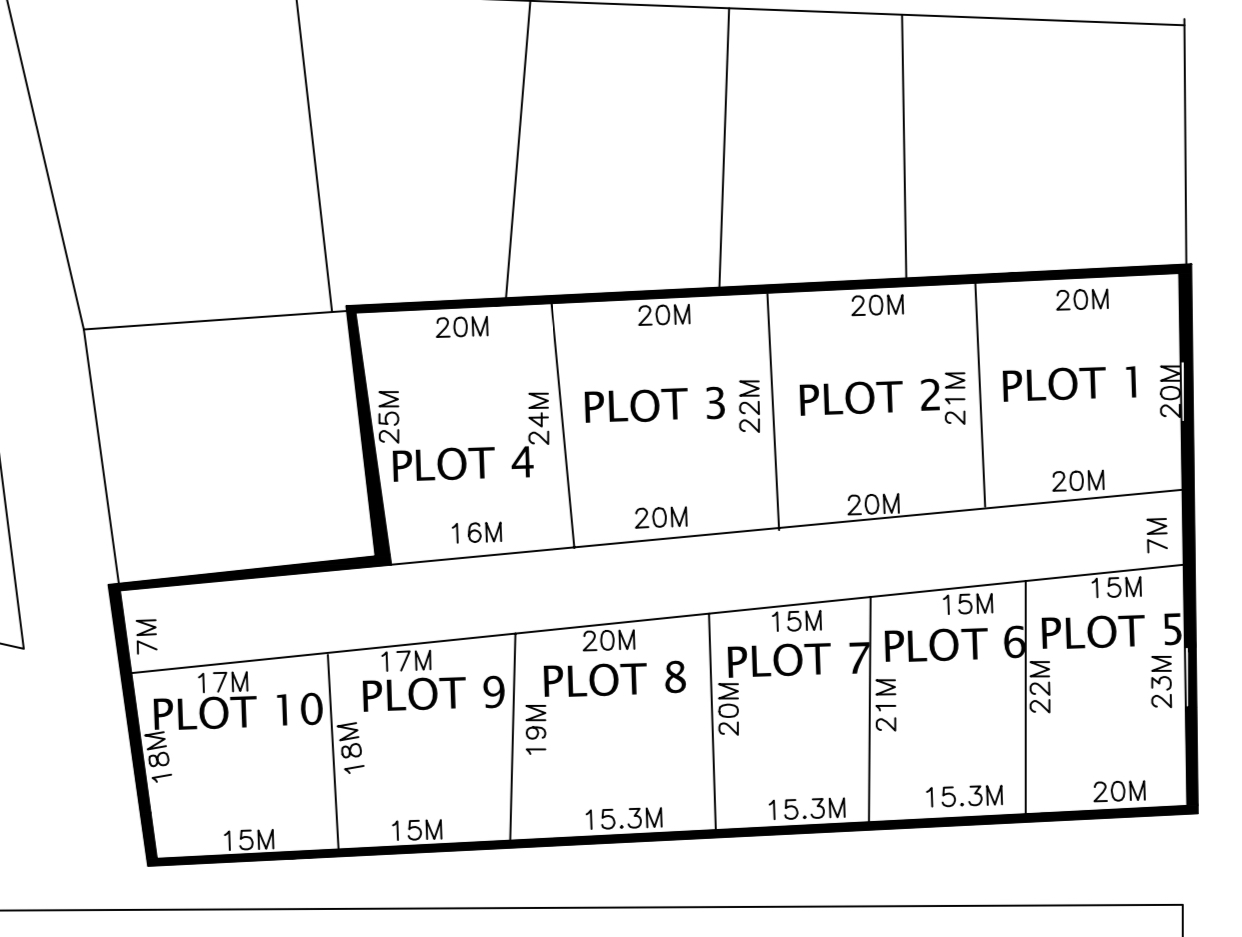 10 Empty plots of land at Jabang with different sizes for sale few meters from the first Jabang roundabout near the school with water and electricity