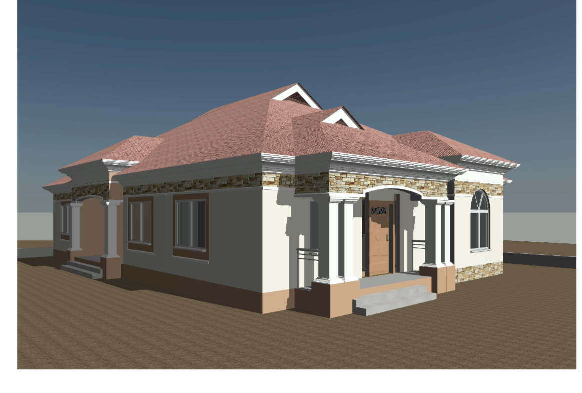 Construction project for a three bedrooms house with two toilet for any location of your choice with a period of 8 to 10 months depending the supply of the materials