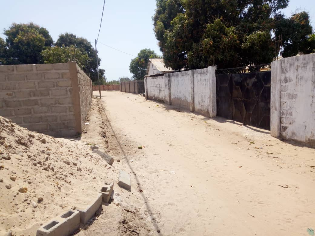 empty land for sale in sukuta 20 x 25 meters few compounds from the higway price D1.5million