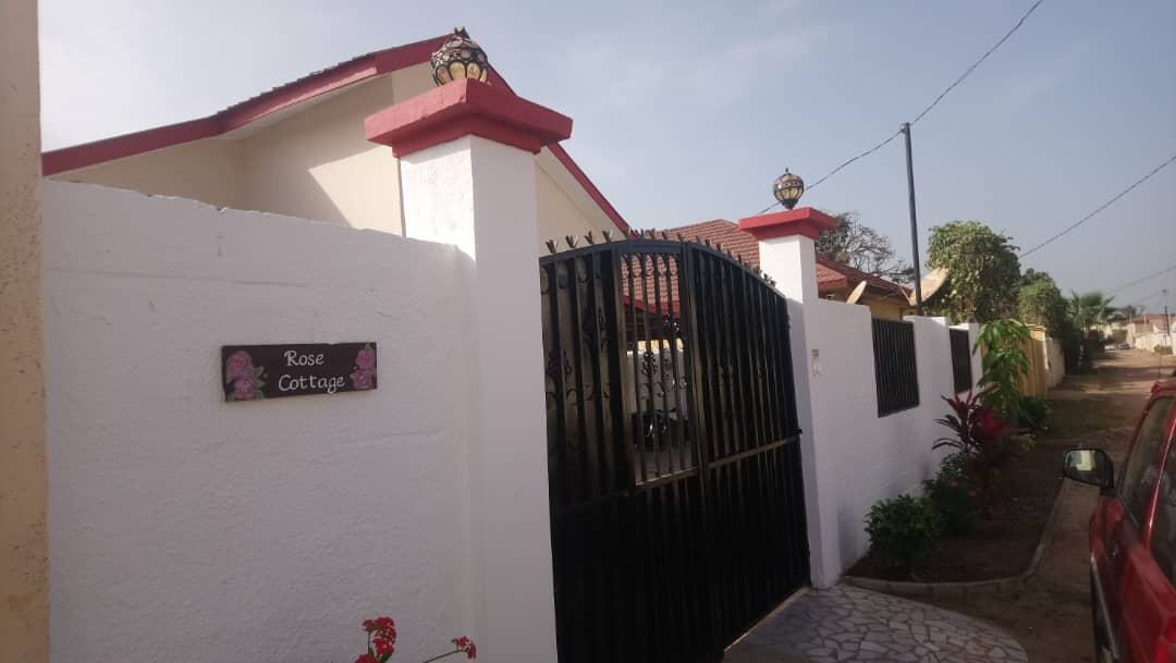 Three bedrooms furnished house with swimming pool and a nice garden in brufut garden for sale price D5.5million